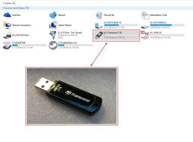 Transcend 2 Terabyte Flash Drive